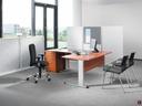 Easy Space  miza oblike L barva češnja