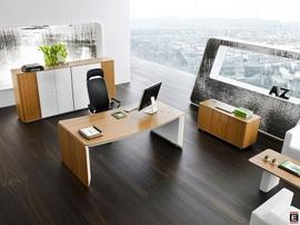 eRange pisarna miza zaobljena