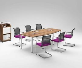 Konferenčna miza Easy Space zaobljene oblike