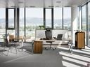 Easy Space samostojna pisarna oreh