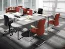 Easy Space zaokrožena priključna miza 160x60 cm